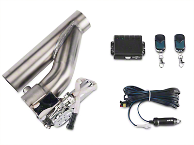 X-Force Electronic Exhaust Cutout Kit - 2.5 in. (87-18 Jeep Wrangler YJ, TJ, JK & JL)