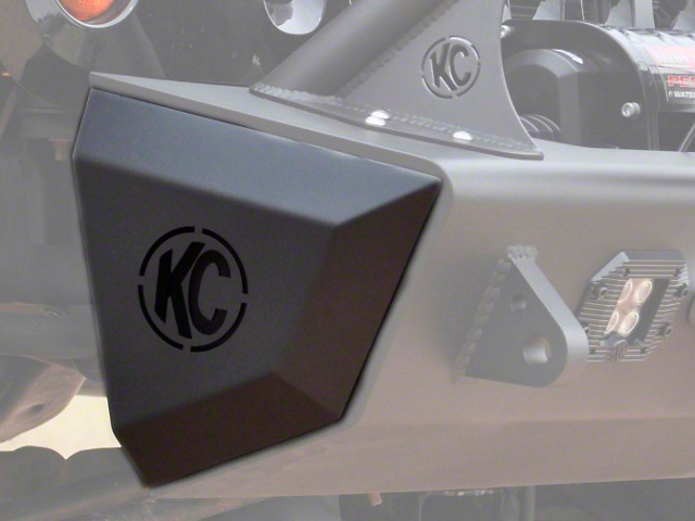 Addictive Desert Designs Stealth Fighter Rock Caps w/ KC Hilites Logo (07-18 Jeep Wrangler JK)