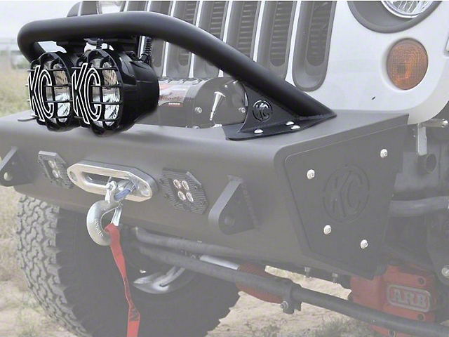 Addictive Desert Designs Stealth Fighter Top Hoop for 6 in. Lights w/ KC Hilites Logo (07-18 Wrangler JK)