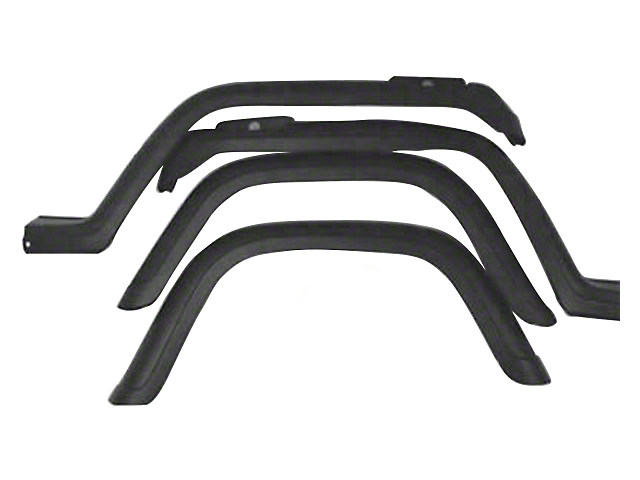Factory Style Replacement Fender Flares (87-95 Jeep Wrangler YJ)