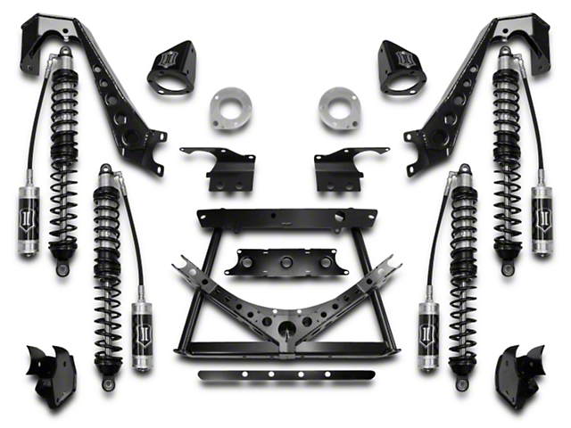 ICON Vehicle Dynamics 1.75 to 3-Inch Coil-Over Conversion Suspension System; Stage 1 (07-18 Jeep Wrangler JK)