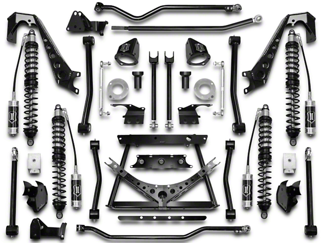 ICON Vehicle Dynamics 4-6.5 in. Coilover Conversion Suspension System - Stage 1 (07-18 Jeep Wrangler JK)