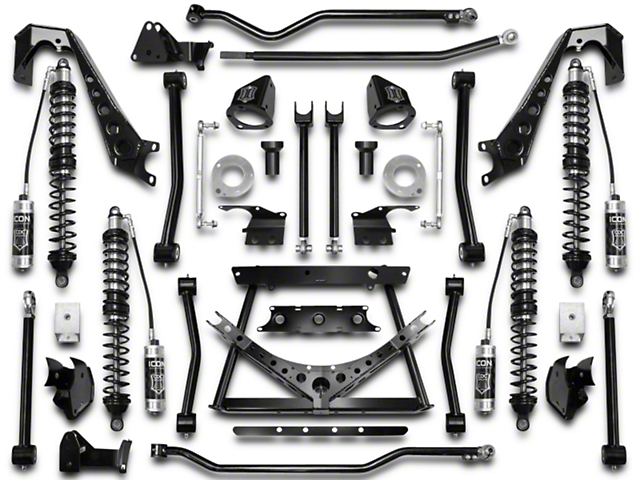 ICON Vehicle Dynamics 4 to 6.50-Inch Coil-Over Conversion Suspension System; Stage 2 (07-18 Jeep Wrangler JK)