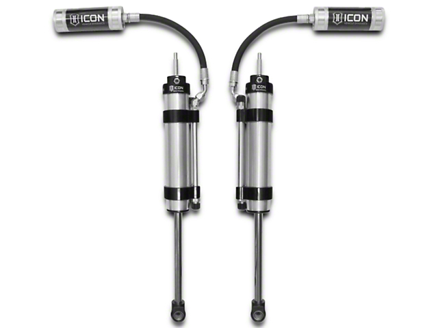 ICON Vehicle Dynamics OMEGA Series Bypass Front Remote Reservoir Shocks for 4.5 in. Lift (07-18 Jeep Wrangler JK)