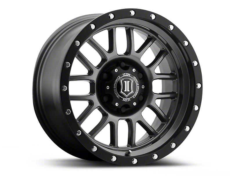 ICON Vehicle Dynamics Alpha Gunmetal Wheel; 17x8.5 (07-18 Jeep Wrangler JK)