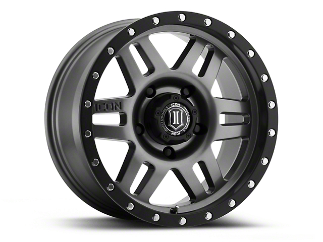 ICON Vehicle Dynamics Six Speed Gunmetal Wheel; 17x8.5 (18-20 Jeep Wrangler JL)