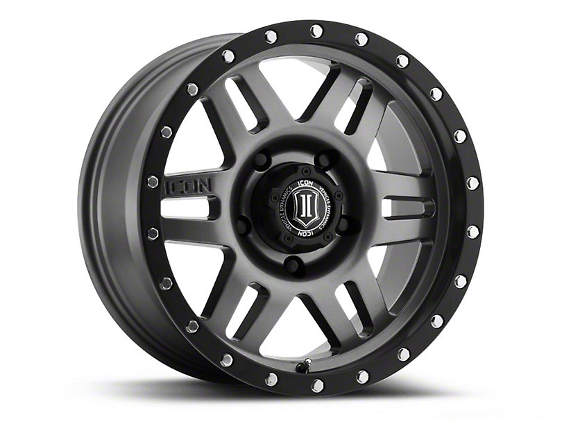 ICON Vehicle Dynamics Six Speed Gunmetal Wheel; 17x8.5 (07-18 Jeep Wrangler JK)