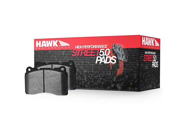 Hawk Performance HPS 5.0 Brake Pads; Front Pair (90-06 Jeep Wrangler TJ)
