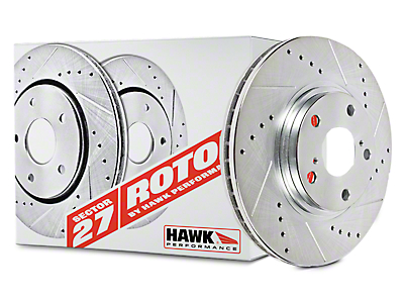 Hawk Performance Sector 27 Rotors & Ceramic Brake Pad Kit - Front (90-06 Wrangler YJ & TJ)