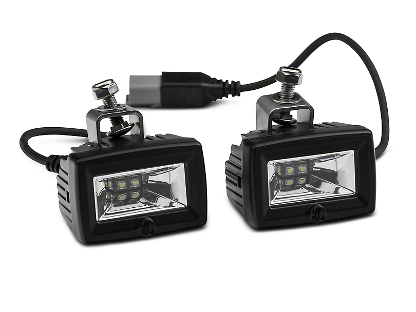Deegan 38 Front Bumper LED Flood Lights (07-20 Jeep Wrangler JK & JL)