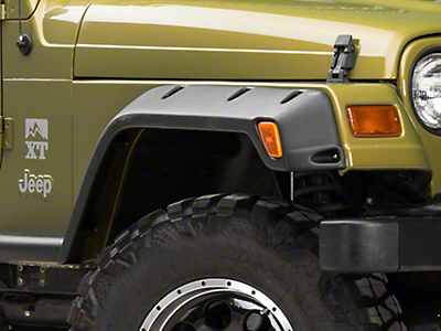 Bushwacker 4.75 in. Pocket Style Fender Flares (97-06 Jeep Wrangler TJ)