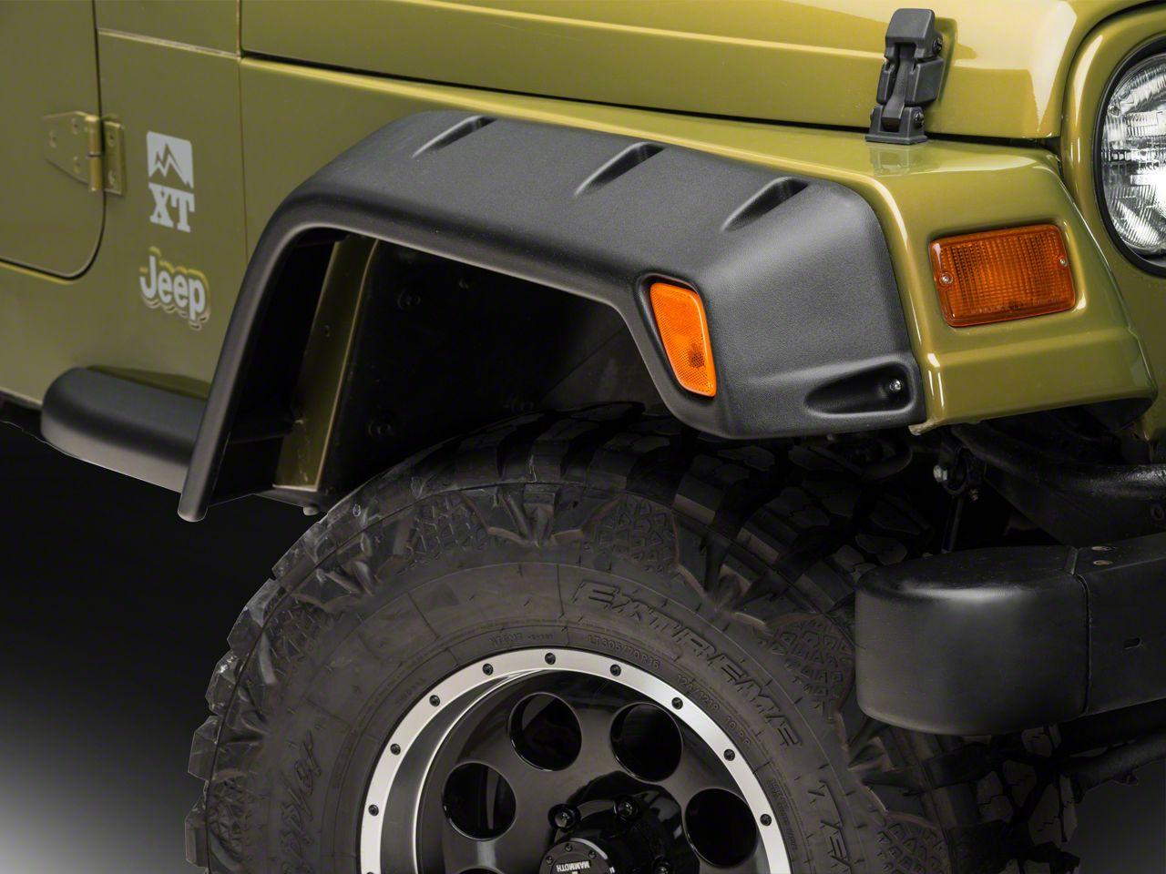 Bushwacker 6 in. Front & Rear Pocket Style Fender Flares (97-06 Jeep Wrangler TJ)