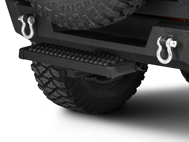 RedRock 4x4 Aluminum Hitch Step for 2-Inch Receiver; Black (Universal Fitment)
