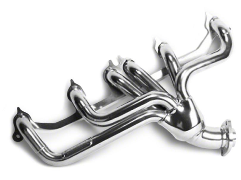 BBK 1-1/2 in. Chrome Tuned Length Shorty Headers (91-99 4.0L Jeep Wrangler YJ & TJ)