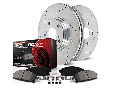 Power Stop Z23 Evolution Sport Brake Rotor & Pad Kit - Front (90-98 Jeep Wrangler YJ & TJ; 1999 Jeep Wrangler TJ w/ 3-1/4 in. Composite Rotors)