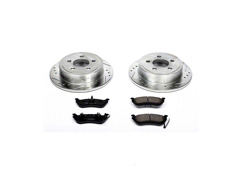 Power Stop Z23 Evolution Sport Brake Rotor and Pad Kit; Rear (03-06 Jeep Wrangler TJ w/ Disc Brakes)