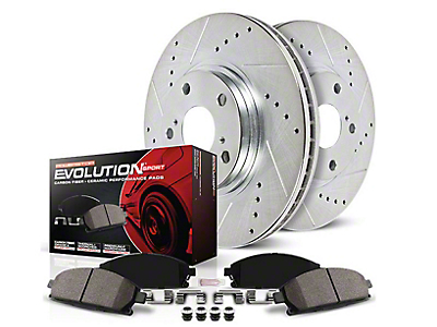 Power Stop Z23 Evolution Sport Brake Rotor & Pad Kit - Rear (03-06 Wrangler TJ w/ Disc Brakes)