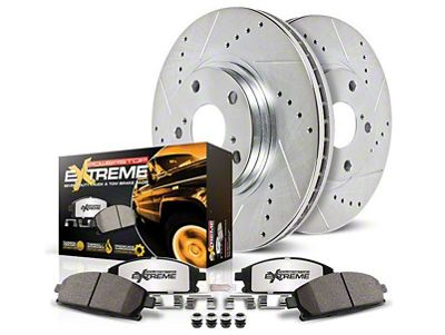 Power Stop Z36 Extreme Truck & Tow Brake Rotor & Pad Kit - Front (07-18 Jeep Wrangler JK)