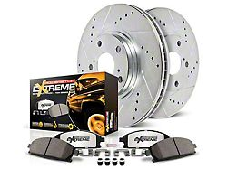 Power Stop Z36 Extreme Truck and Tow Brake Rotor and Pad Kit; Front (07-18 Jeep Wrangler JK)