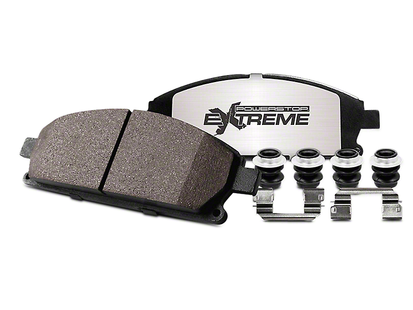 Power Stop Z36 Extreme Truck and Tow Brake Rotor and Pad Kit; Front (90-06 Jeep Wrangler YJ & TJ)