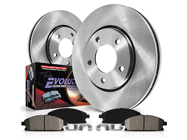 Power Stop OE Replacement Brake Rotor & Pad Kit - Front (90-98 Jeep Wrangler YJ & TJ; 1999 Jeep Wrangler TJ w/ 3-1/4 in. Composite Rotors)