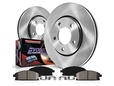 Power Stop OE Replacement Brake Rotor & Pad Kit - Front (90-98 Wrangler YJ & TJ; 1999 Wrangler TJ w/ 3-1/4 in. Composite Rotors)