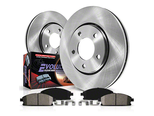 Power Stop OE Replacement Brake Rotor and Pad Kit; Rear (03-06 Jeep Wrangler TJ w/ Disc Brakes)