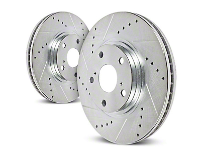 Power Stop Evolution Cross-Drilled & Slotted Rotors - Front Pair (90-98 Jeep Wrangler YJ & TJ; 1999 Jeep Wrangler TJ w/ 3-1/4 in. Composite Rotors)