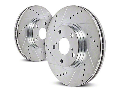 Power Stop Evolution Cross-Drilled & Slotted Rotors - Rear Pair (03-06 Wrangler TJ w/ Disc Brakes)