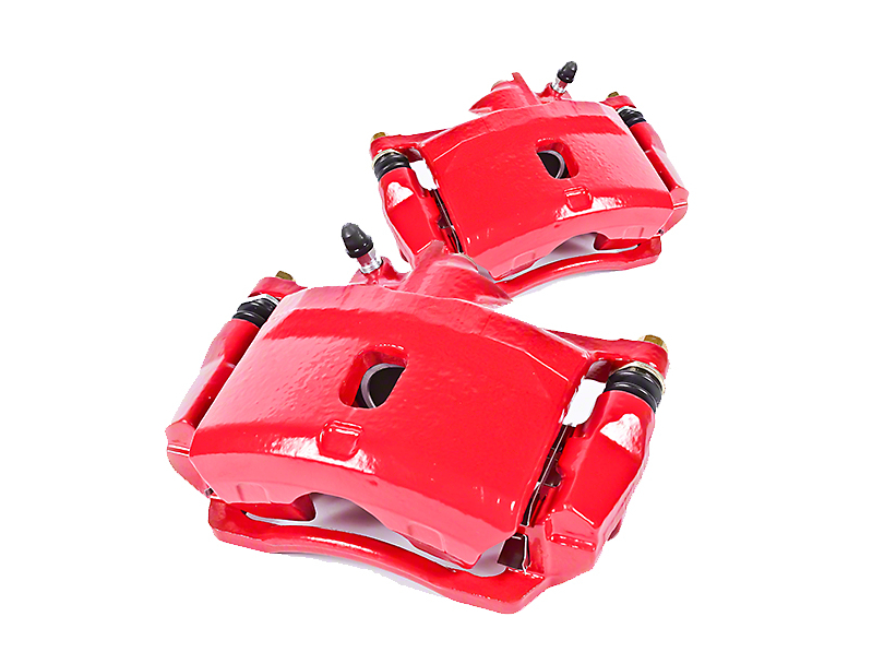 Power Stop Performance Front Brake Calipers; Red (90-06 Jeep Wrangler YJ & TJ)