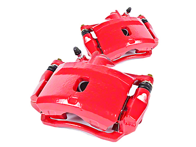 Power Stop Performance Front Brake Calipers - Red (90-06 Jeep Wrangler YJ & TJ)