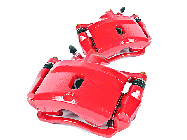Power Stop Performance Rear Brake Calipers; Red (03-06 Jeep Wrangler TJ w/ Disc Brakes)