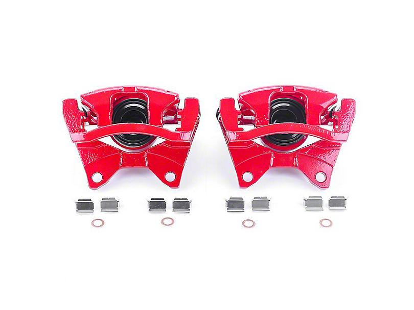 Power Stop Performance Rear Brake Calipers; Red (07-18 Jeep Wrangler JK)
