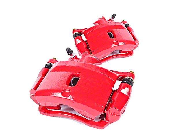 Power Stop Performance Rear Brake Calipers; Red (07-18 Jeep Wrangler JK)