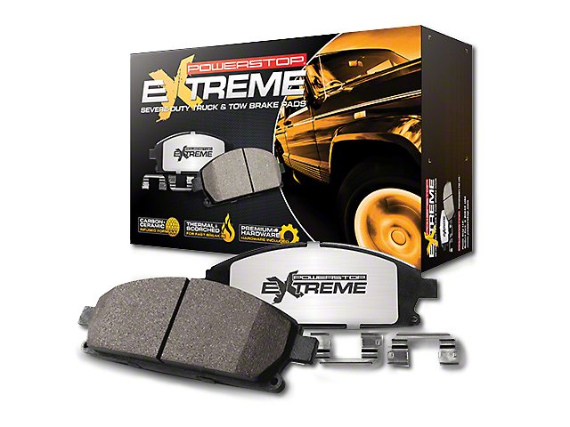 Power Stop Z36 Extreme Truck and Tow Carbon-Fiber Ceramic Brake Pads; Front Pair (07-18 Jeep Wrangler JK)