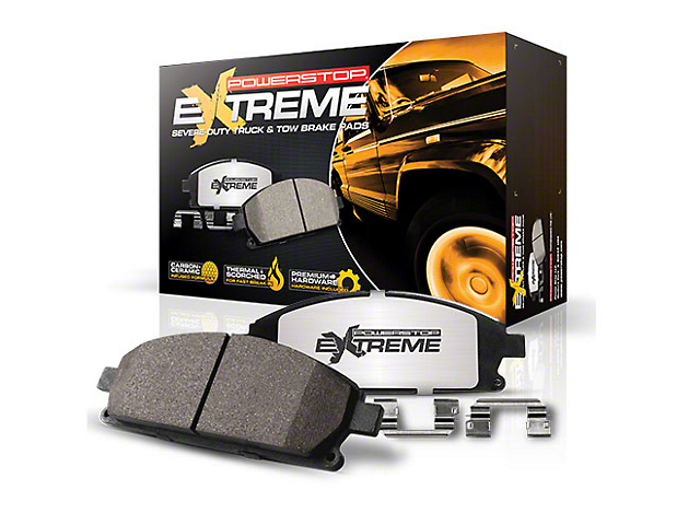 Power Stop Z36 Extreme Truck and Tow Carbon-Ceramic Brake Pads; Rear Pair (03-06 Jeep Wrangler TJ w/ Disc Brakes)