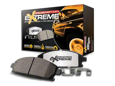 Power Stop Z36 Extreme Truck & Tow Carbon-Ceramic Brake Pads - Rear Pair (07-18 Jeep Wrangler JK)