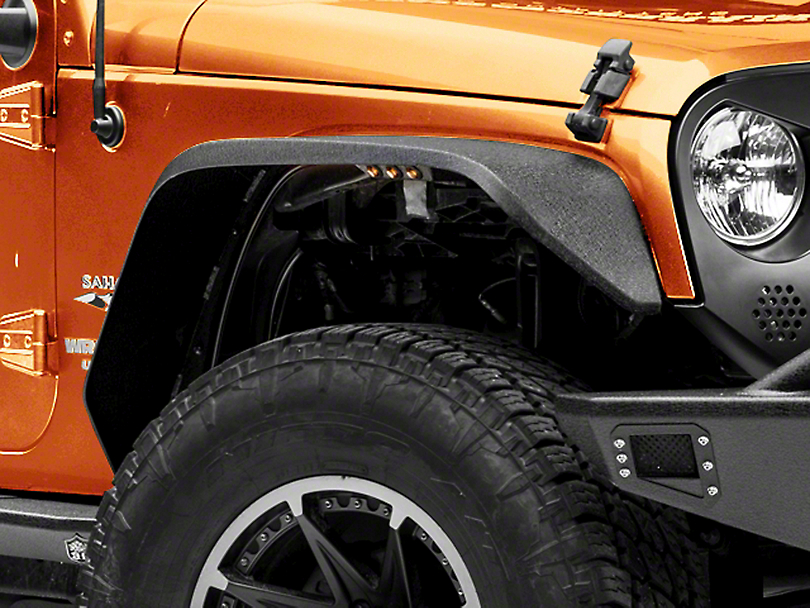 Deegan 38 Fender Flares w/ LED Marker Lights (07-18 Wrangler JK)