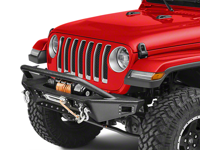 Deegan 38 Front Bumper with KC HiLiTES LED Fog Lights (18-21 Jeep Wrangler JL)