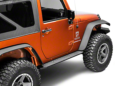 Deegan 38 HD Rock Sliders w/ LED Rock Lights (07-18 Jeep Wrangler JK 2 Door)
