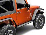 Deegan 38 HD Rock Sliders w/ LED Rock Lights (07-18 Jeep Wrangler JK 2 Door)