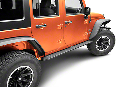 Deegan 38 HD Rock Sliders w/ LED Rock Lights (07-18 Wrangler JK 4 Door)