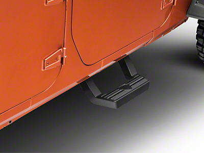Carr LD Side Steps for Front Doors - Black (07-18 Wrangler JK)