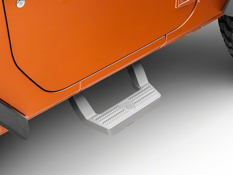Carr LD Side Steps for Front Doors - Titanium Silver (07-18 Jeep Wrangler JK)