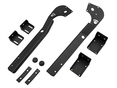 Carr XRS Adjustable LED Light Bar Brackets (87-95 Jeep Wrangler YJ)