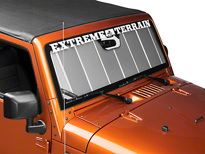 Covercraft UVS100 Custom Sunscreen - Silver (07-18 Wrangler JK)
