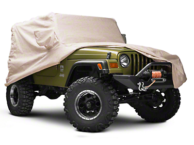 Covercraft Deluxe Custom-Fit Car Cover - Taupe (97-06 Jeep Wrangler TJ)