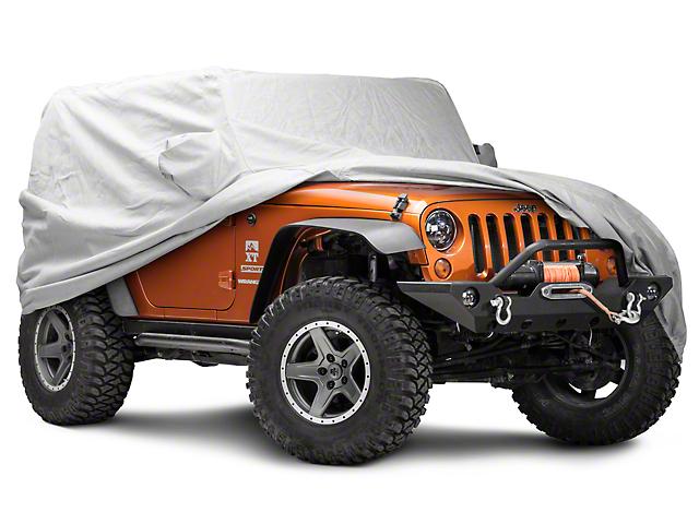Covercraft Premium Custom Fit Car Cover - Gray (07-18 Jeep Wrangler JK 2 Door)