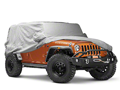 Covercraft Premium Custom-Fit Car Cover - Gray (07-18 Jeep Wrangler JK 4 Door)