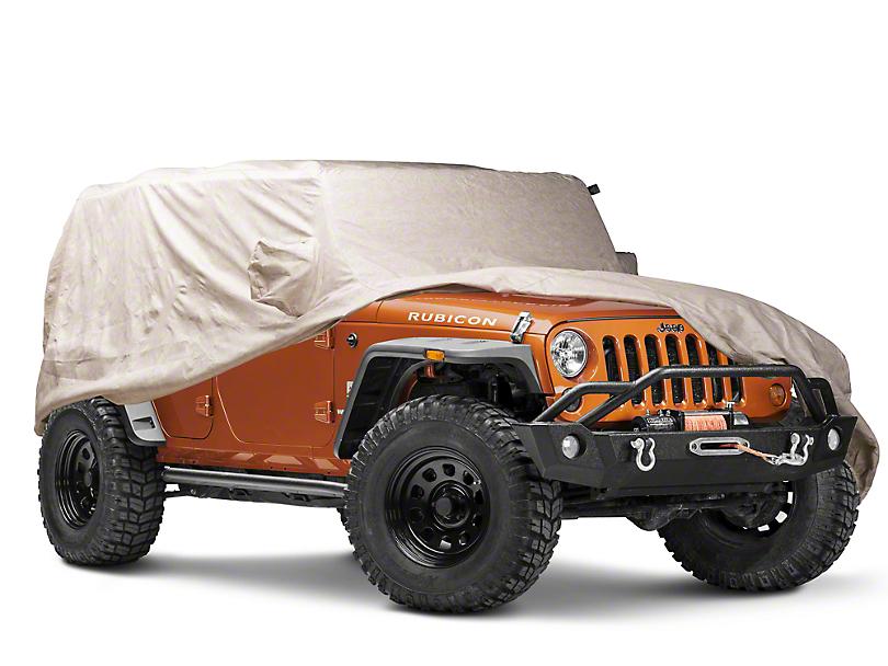 Covercraft Deluxe Custom-Fit Car Cover - Taupe (07-18 Jeep Wrangler JK 4 Door)